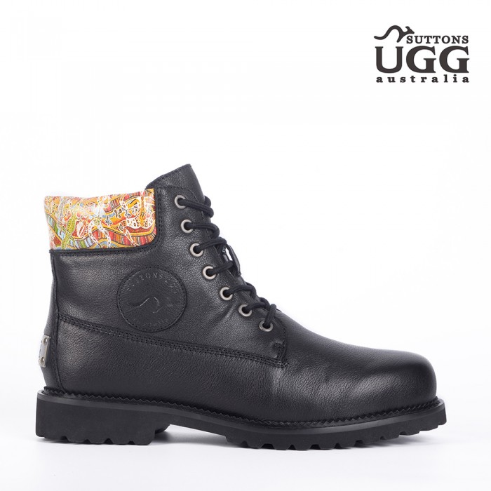 Native Pattern Work Boots OH2512