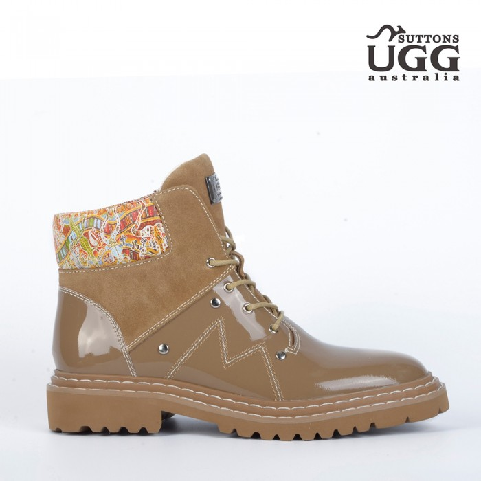 Native Pattern Work Boots OH5116