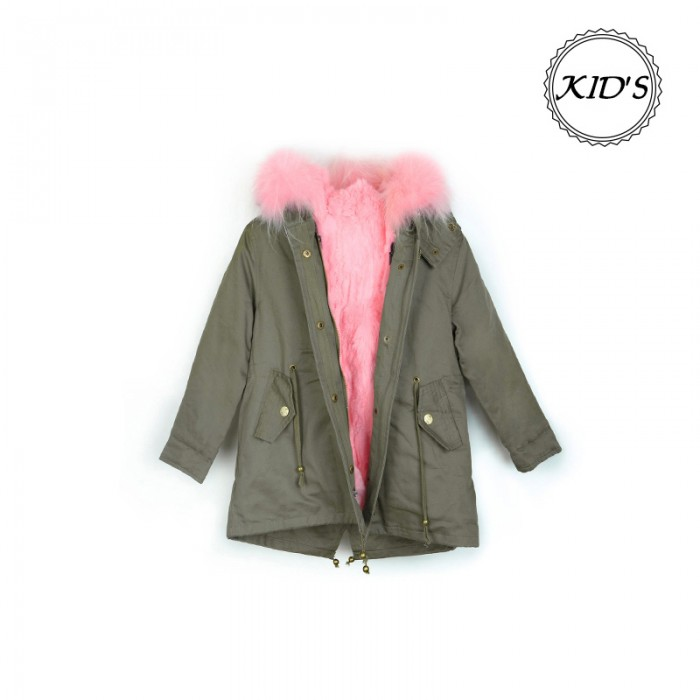 Kid's Green+Pink Rabbit SG8605